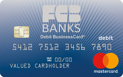 FCB Banks Business Chip Debit Card