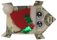 Folded Money Holiday Frog